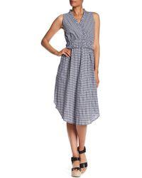 HOPE AND HARLOW - Sleeveless Surplcie Midi Dress - Lyst