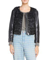 Étoile Isabel Marant - Abella Frill Leather Jacket - Lyst