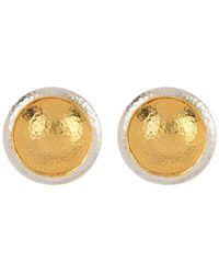 Gurhan 24k Gold Plated Sterling Silver Amulet Stud Earrings - Metallic