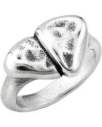 Uno De 50 First Date Irregular Heart Ring - Metallic