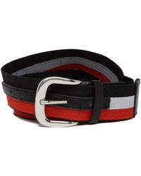 Steve Madden - Striped Stretch Belt - Lyst