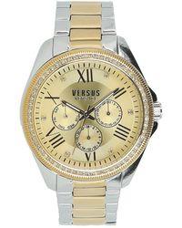 Versus Women's Elmont Swarovski Crystal Accent Two-tone Bracelet Watch, 40mm - Metallic