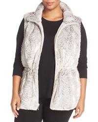 Gallery - Reversible Faux Fur Vest (plus Size) - Lyst