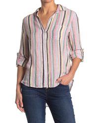 Velvet Heart Elisa Roll Tab Button Down Shirt - Multicolor