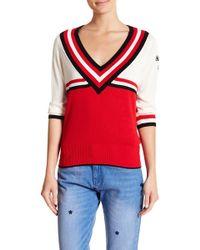 Neck Scotch V amp; Sweater Striped Lyst Soda xRrIq1wR