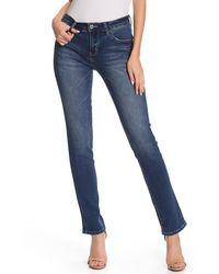 Jag Jeans Hanna Stretch Straight Leg Jeans - Blue