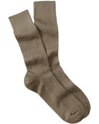 Cole Haan - Distorted Texture Crew Socks - Lyst