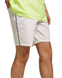 TOPMAN - Check Tape Slim Fit Denim Shorts - Lyst