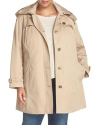 London Fog - Single Breasted Trench Coat (plus Size) - Lyst
