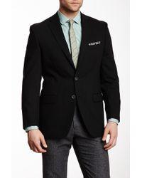 Calvin Klein - Black Solid Two Button Notch Lapel Blazer - Lyst