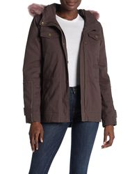 5734fa5d7bc UGG Field Jacket With Toscana Shearling Fur Hood in Green - Lyst