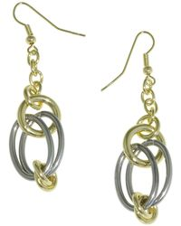 1AR By Unoaerre - Dangle Earring With Stainless Steel Links - Lyst