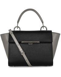 Lancaster Adele Leather Satchel - Black