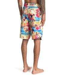 Robert Graham Slipstream Swim Board Shorts - Multicolor