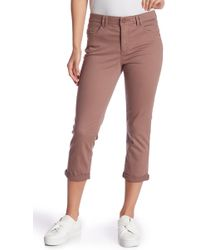 Democracy - High-rise Stretch Twill Rolled Pants (petite) - Lyst