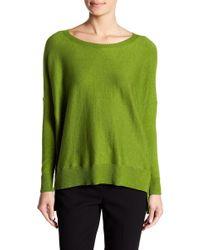 Eileen Fisher - Boatneck Hi-lo Knit Sweater - Lyst