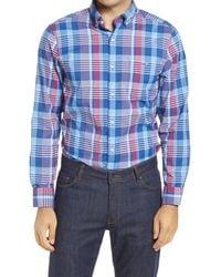 Vineyard Vines Tucker Classic Fit Plaid Performance Button-down Shirt - Blue