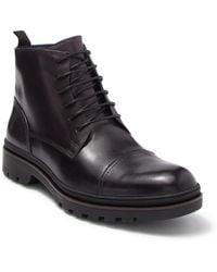 Zanzara Stone Leather Boot - Gray