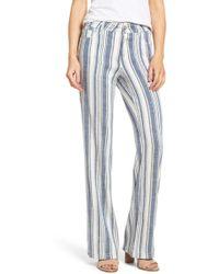 NYDJ - Wylie Stripe Linen Blend Trousers - Lyst