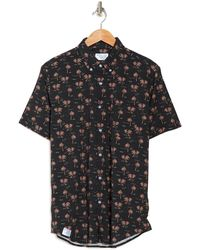 Bermies Palm Tree Short Sleeve Shirt - Black