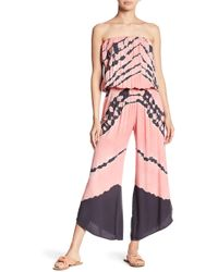 Young Fabulous & Broke - Aviana Printed Strapless Jumpsuit - Lyst