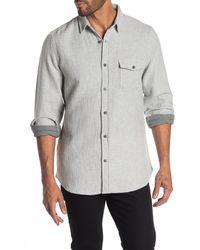 Wallin & Bros. Solid Long Sleeve Regular Fit Shirt - Gray