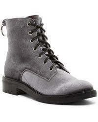 Dolce Vita - Bardot Lace-up Velvet Boot - Lyst
