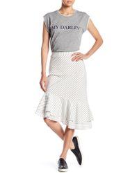 Joie - Yenene Striped Asymmetrical Hem Skirt - Lyst