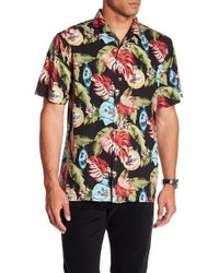 Tommy Bahama - With Bells On Original Fit Short Sleeve Silk Shirt - Lyst