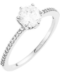 Nadri - Prong Set Cz Solitaire & Pave Ring - Size 7 - Lyst