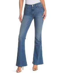Black Orchid Mia Mid Rise Flare Jeans - Blue