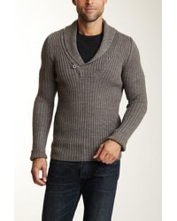 Dex - V-neck Sweater With One Button Closure - Lyst