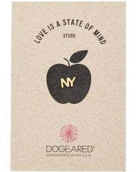 Dogeared - Love Is A State Of Mind Ny Single Stud Earring - Lyst