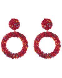 Cara - Boucle Oval Dangle Earrings - Lyst