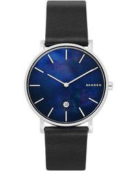 Skagen Men's Hagen Leather Strap Watch, 40mm - Multicolour