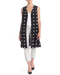 Pleione Printed Soft Duster Vest (petite) - Black