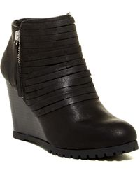 Rampage | Sgt Tempe Wedge Bootie | Lyst