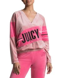 Juicy Couture Logo Velour Sweatshirt - Pink
