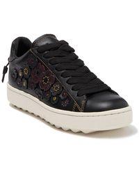 COACH Tea Rose Low Top Sneaker - Black