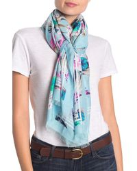 Tommy Bahama Florencia Oblong Scarf - Blue