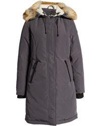Sam Edelman Faux Fur Trim Hooded Down Jacket - Gray