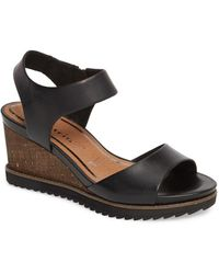 Tamaris - 'alis' Lug Sole Wedge Sandal (women) - Lyst