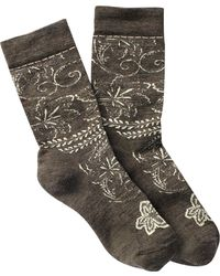 Smartwool - Floral Scroll Wool Blend Crew Socks - Lyst