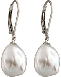 Splendid - Keshi Pearl Drop Earrings - Lyst