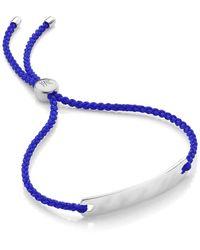 Monica Vinader Sterling Silver Havana Mini Friendship Bracelet - Metallic