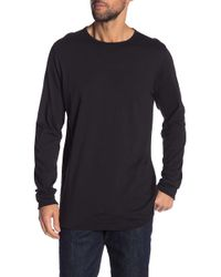 Hudson Jeans - Elongated Long Sleeve Tee - Lyst