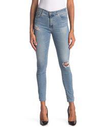 AG Jeans Farrah High Waist Ankle Crop Skinny Jeans - Blue