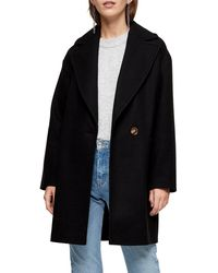 TOPSHOP Slouch Relaxed Coat - Black