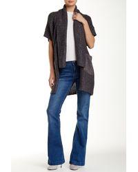 Catherine Malandrino Indigo - Faux Suede Pocket Knit Sweater - Lyst