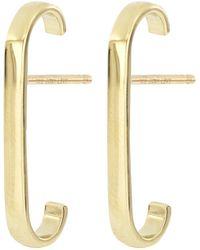 Bony Levy 14k Yellow Gold Cuff Stud Earrings - Metallic